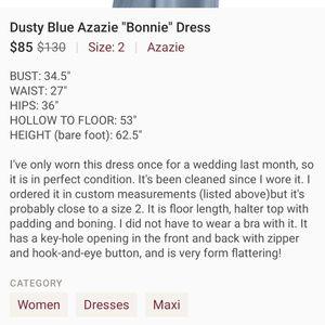 Azazie Dresses - Azazie dusty blue Bonnie dress